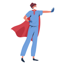 Nurse heroine with cape character