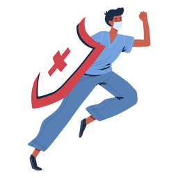 Nurse with shield character