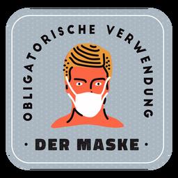 Mascarilla obligatoria insignia alemana
