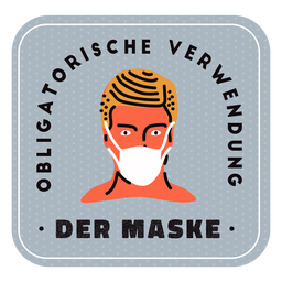 Obligatory face mask german badge