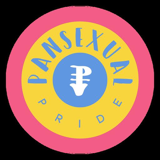 Pansexual pride badge Transparent PNG