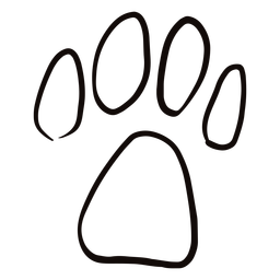 Doodle de impresión de la pata