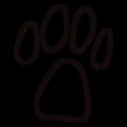 Doodle de impressão de pata