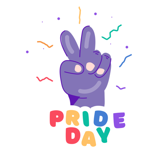 Peace sign pride day sticker Transparent PNG