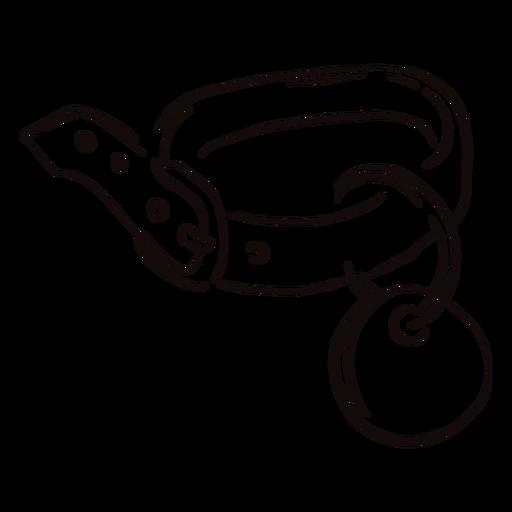 Pet collar doodle