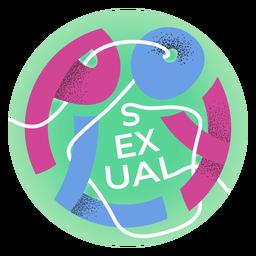 Polysexual pride badge