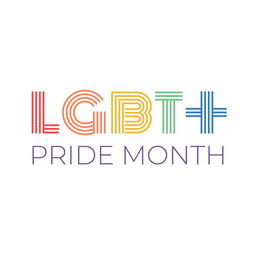 Pride month lgbt + badge