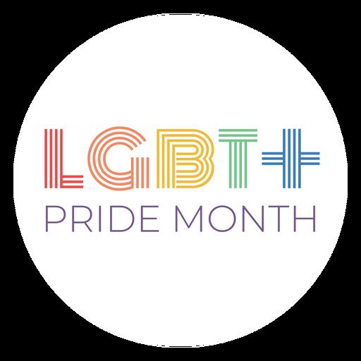 Orgullo mes lgbt + insignia