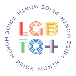 Insignia lgbtq del mes del orgullo