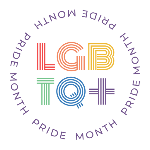 Emblema do mês lgbtq do orgulho Transparent PNG