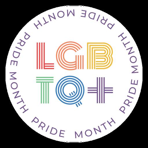 Orgullo mes insignia lgbtq Transparent PNG
