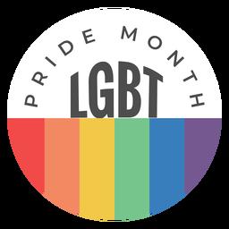 Emblema do lgbt do mês do orgulho