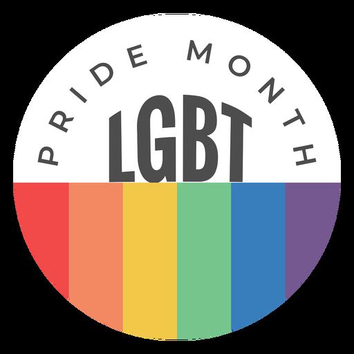 Insignia lgbt del mes del orgullo