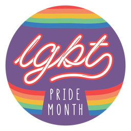 Pride month badge