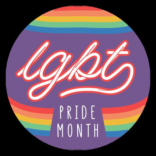 Distintivo do mês do orgulho Transparent PNG