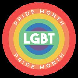 Orgullo mes arco iris lgbt insignia