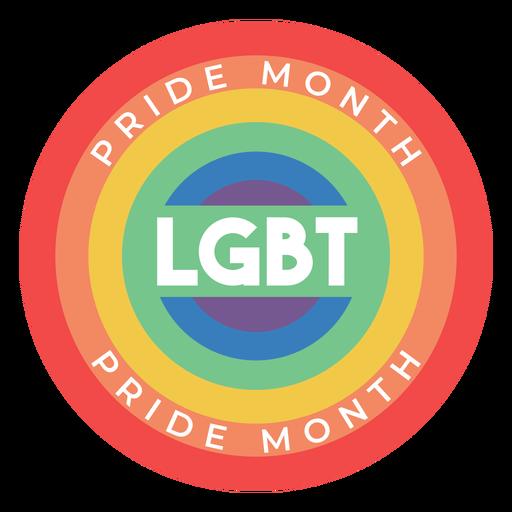 Insignia lgbt del arco iris del mes del orgullo