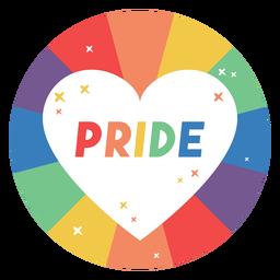 Distintivo de coração de orgulho
