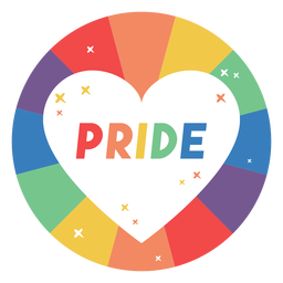 Pride heart badge