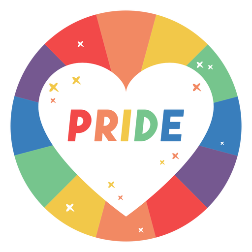 Distintivo de coração de orgulho Transparent PNG