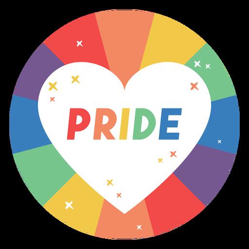 Pride heart badge Transparent PNG