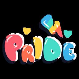 Letras de arco-íris do orgulho