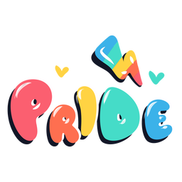 Pride rainbow lettering