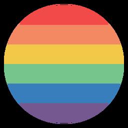 Círculo colorido de arco-íris plana