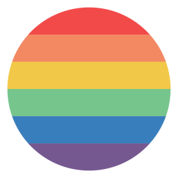 Rainbow colored circle flat