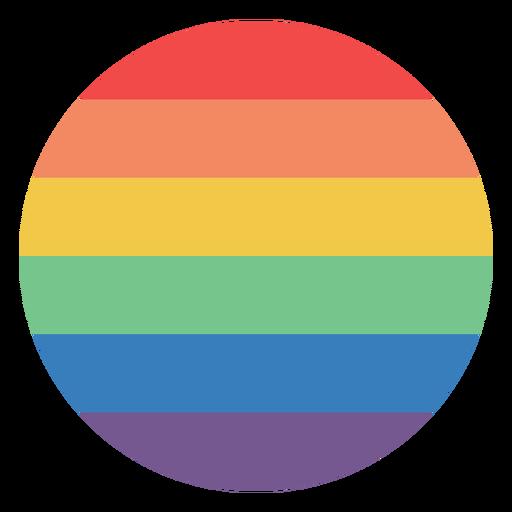 Rainbow colored circle flat