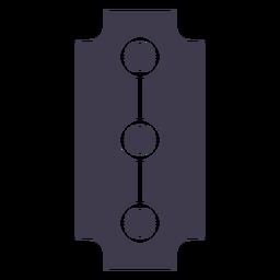 Razor blade silhouette