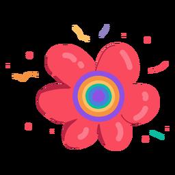 Dibujado a mano girasol rojo