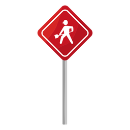 Road work sign flat