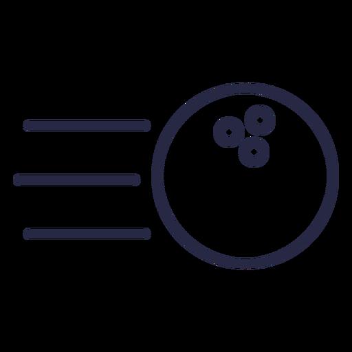 Icono de bola de boliche rodante