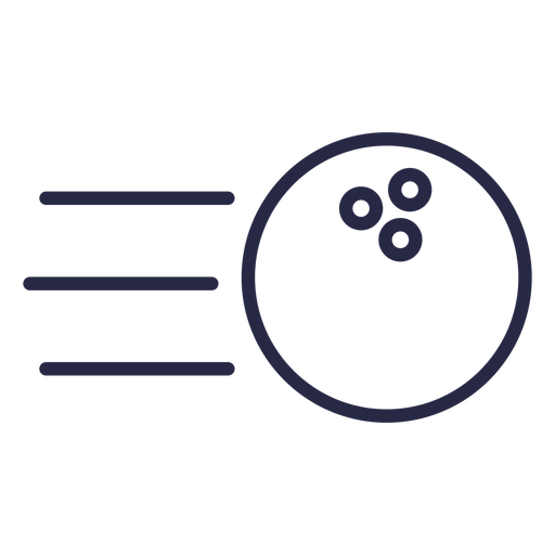 Rolling bowling ball icon