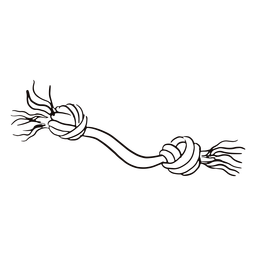Doodle de juguete para mascotas de masticar cuerda