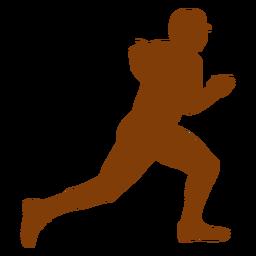 Runner baseball silhouette