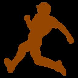 Runner getting on base silhouette