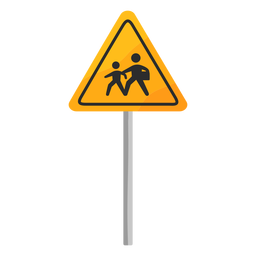 School zone sign flat