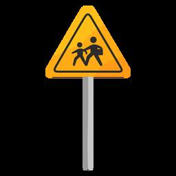Signo de zona escolar plana