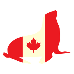 Seal with canada flag flat