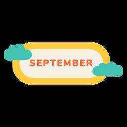Etiqueta de la nube de septiembre