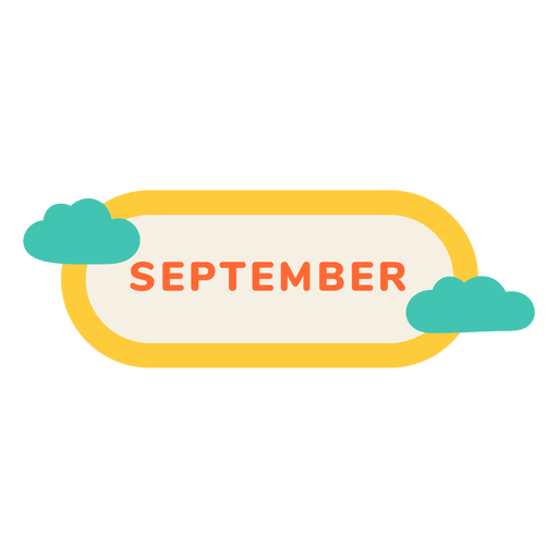September cloud label