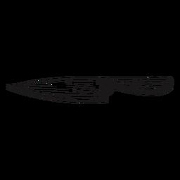 Cuchillo afilado dibujado a mano