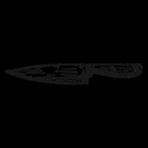 Sharp knife hand drawn