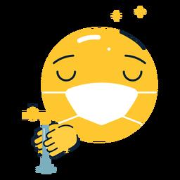 Emoji brillante lavarse las manos planas