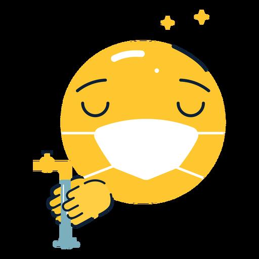 Emoji brillante lav?ndose las manos planas