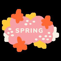 Etiqueta floral de primavera