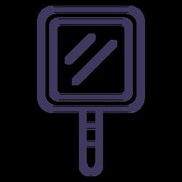 Icono de espejo cuadrado