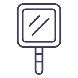 Square mirror icon